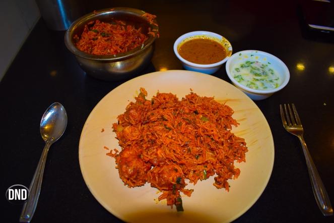 chicken 65 biryani at Parika, Marnamikatte, Mangalore - What tempts my palate