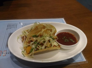 Chicken tacos at The cafe, Valencia, Mangalore