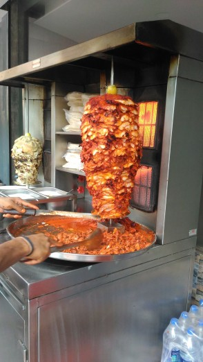 Spicy chicken Shwarma at- town tables, Mangalore.
