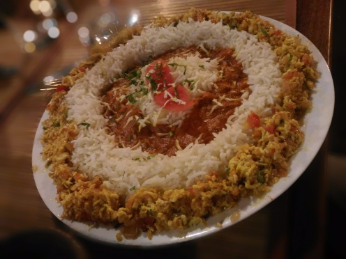 buttered rice with paneer Kheema - Village Restuarant, Mangalore