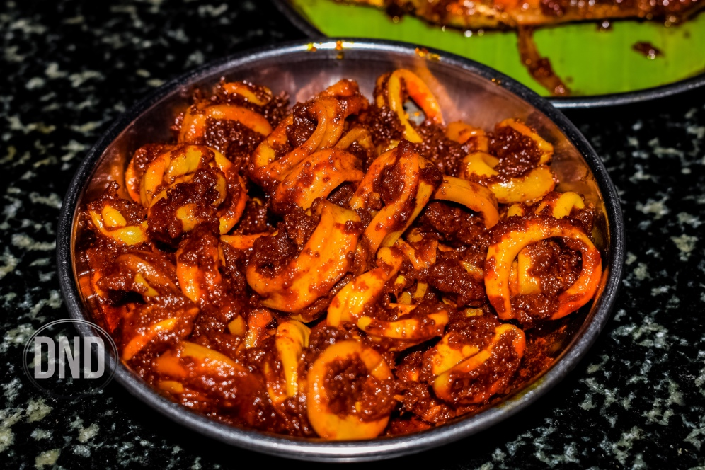 Squid ghee roast, Machali, Mangalore - What tempts my palate